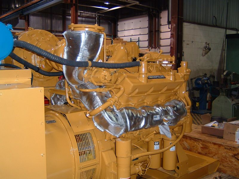 Caterpillar Engine Insulation Blankets On Firwin Corp